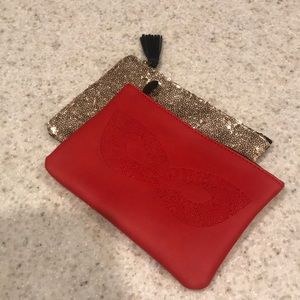 SET OF TWO Ipsy makeup bags